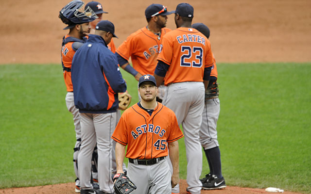 The Astros will finish the season with just one winning month -- March, when they were 1-0. (USATSI)