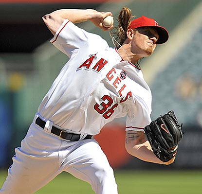 Jered Weaver dominates the A's again and finishes an injury-marred season with a standout performance.  (USATSI)