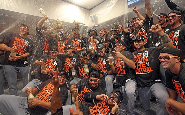 The Tigers, with the fifth highest payroll in MLB, celebrate another AL Central crown.
