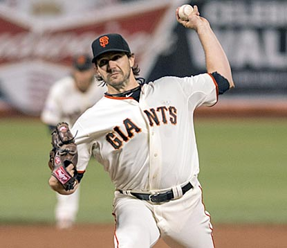 Barry Zito holds down the Dodgers and improves his career stats with the Giants to 63-80 with a 4.62 ERA.  (USATSI)