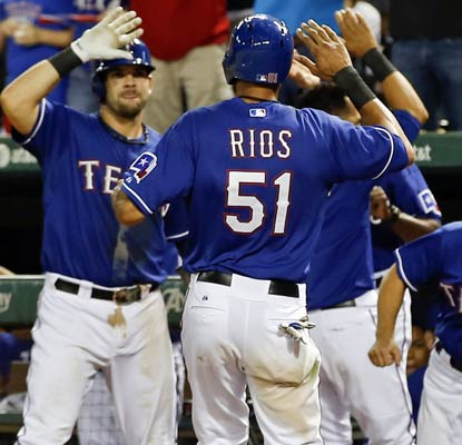 Alex Rios and the Rangers need all the wins they can get as the wild-card race hits the stretch run.  (USATSI)