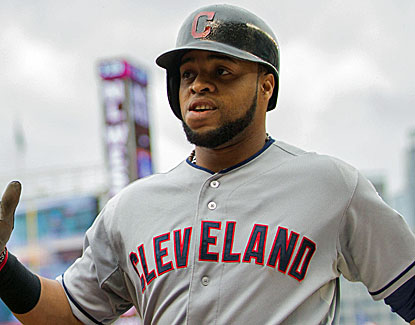 Cleveland catcher Carlos Santana homers for the Indians, winners of 14 of their last 16 games. (USATSI)