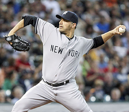 Longtime Yankee Andy Pettitte, 41, notches his first complete game in seven years as he wraps up his 18-year career. (USATSI)