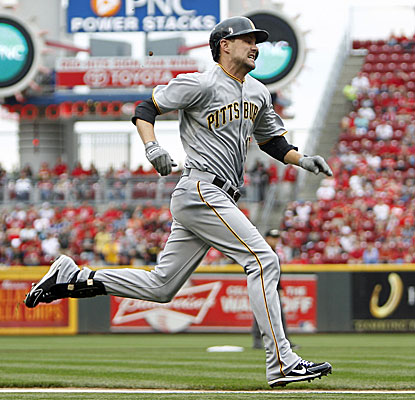 Jordy Mercer legs out an inside-the-park homer against the Reds. The Pirates shortstop also hits a triple in the game. (USATSI)