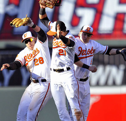The Orioles end the season on a high note with a win over the Red Sox and earn a second-straight winning season.  (USATSI)