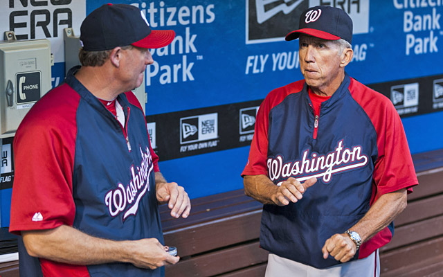 Randy Knorr appears to be the leading internal candidate to replace Davey Johnson as Nats manager. (USATSI)