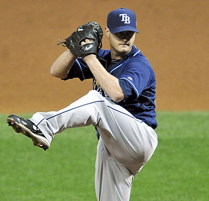 The Rays' Alex Cobb throws 6 2/3 shutout innings en route to his first career postseason victory. (USATSI)