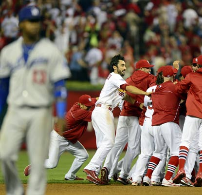 The Dodgers lose their longest playoff game since the 1916 World Series and now trail the Cardinals 1-0 in the NLCS.  (USATSI)
