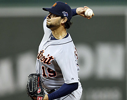 What a night for Anibal Sanchez, who gives up no hits over six innings before his pitch count forces him from the game. (USATSI)