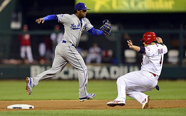 Dodgers shortstop Hanley Ramirez may not play in Monday's NLCS Game 3. (USATSI)