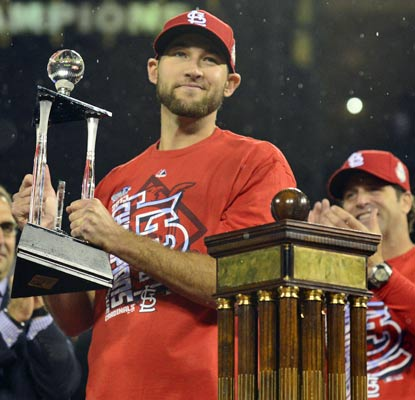 St. Louis rookie Michael Wacha earns NLCS MVP honors thanks to two wins over Clayton Kershaw and 13 2/3 scoreless innings.  (USATSI)