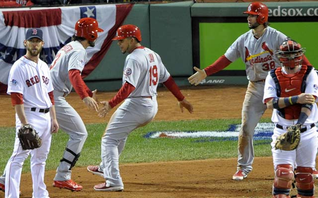The Red Sox's pitching situation is murky for Games 3 and 4 in St. Louis. (USATSI)