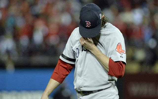 Clay Buchholz does not look like himself in Game 4 on Sunday.