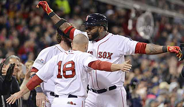 If Red Sox slugger David Ortiz is tired, he hasn't shown it, even after 214 games. (USATSI)