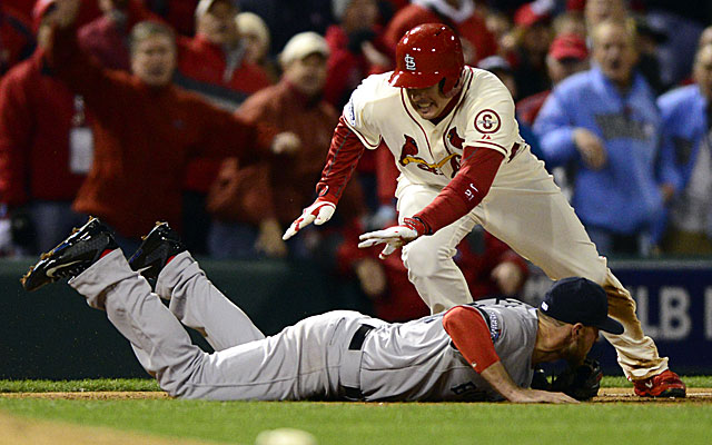 We're likely to see this crazy obstruction call in, say, another 50 years or so. (USATSI)