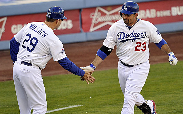 Dodgers third-base coach Tim Wallach is a candidate for vacant managerial jobs in Detroit and Seattle. (USATSI)