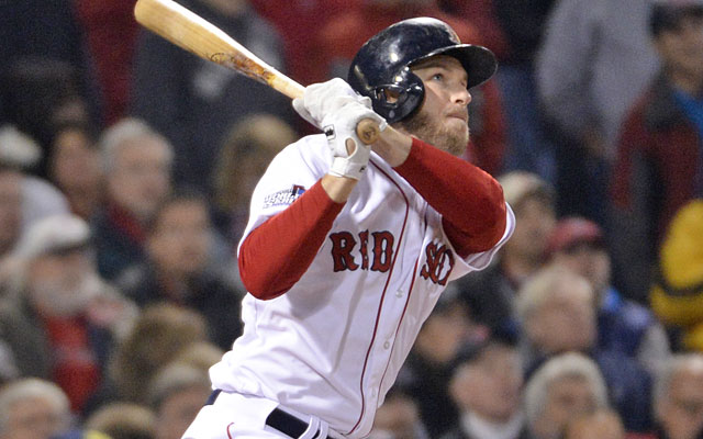 Stephen Drew shook off his postseason slump with a home run in the Red Sox's Game 6 clincher. (USATSI)