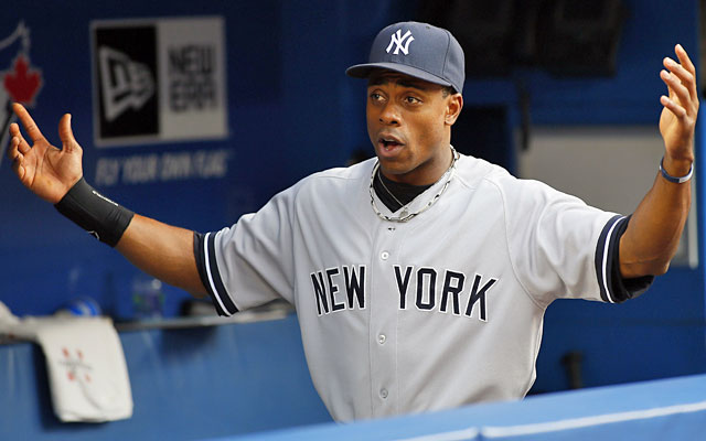 Curtis Granderson led the majors in homers and runs in 2011-12, but his strikeout rate is a concern. (USATSI)