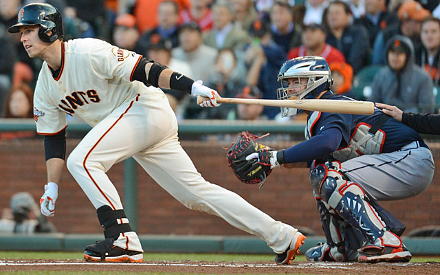 The Giants aren't likely to ask Buster Posey to move out from behind the plate for Brian McCann. (USATSI)