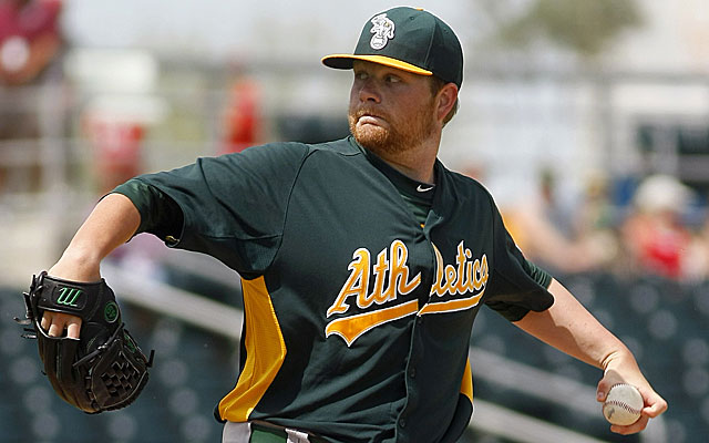 Brett Anderson, Oakland's Opening Day starter in 2013, may be trade bait. (USATSI)