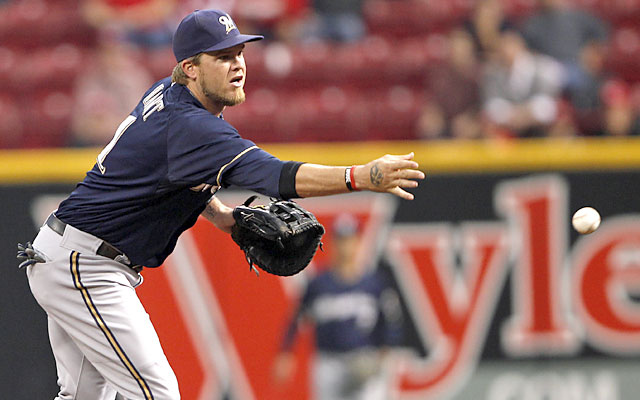 Despite knee concerns, the Brewers are considering Hart at 1B over other options. (USATSI)