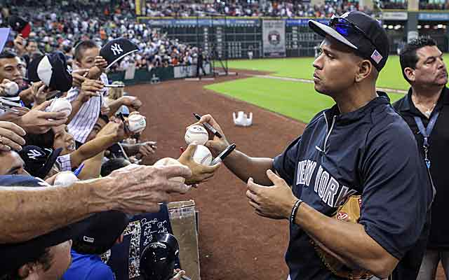 Is Alex Rodriguez feeling the strain of fighting an MLB-imposed 211-game ban? (USATSI)
