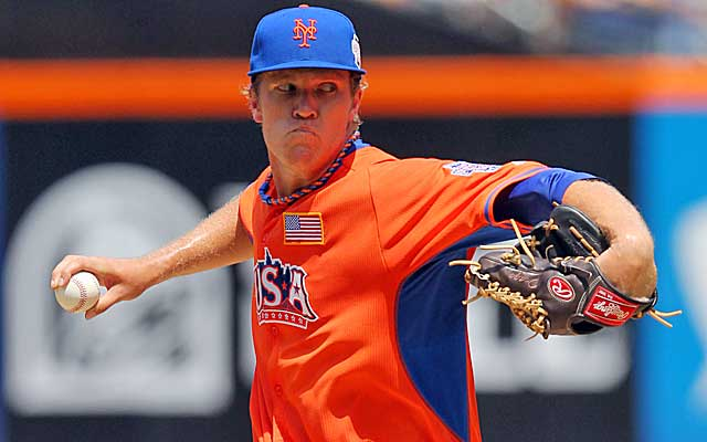 The Mets are stocked with pitching, but don't want to deal their big right-hander.   (USATSI)