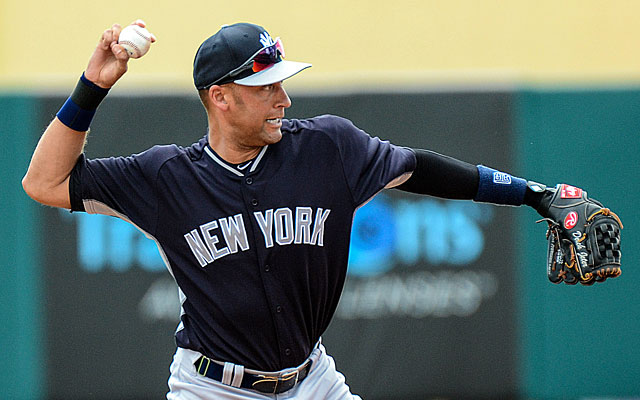 Derek Jeter, 39 and coming off a lost 2013 season due to an ankle injury, starts at shortstop. (USATSI)