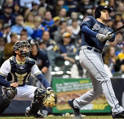 Freddie Freeman puts his Miller Park struggles in the past by belting two solo home runs.  (USATSI)