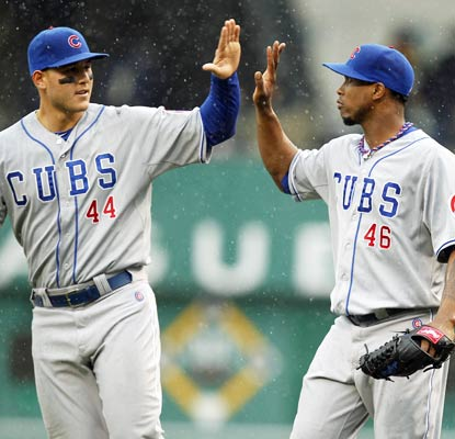 The Cubs are glad to be in the win column after two frustrating losses to start the season.  (USATSI)