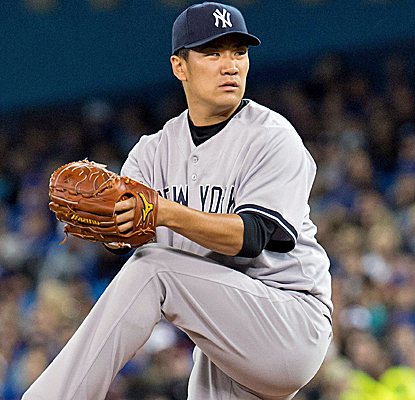 Masahiro Tanaka goes seven innings, striking out eight to pick up the victory in his MLB debut.  (USATSI)