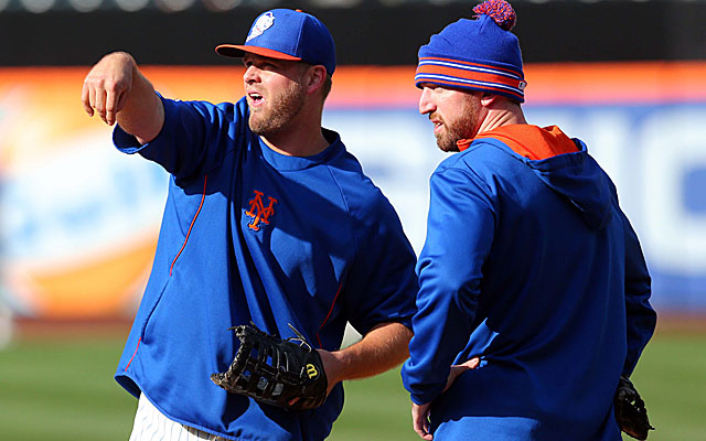Lucas Duda, left, and Ike Davis are in a logjam at first base in New York. (USATSI)