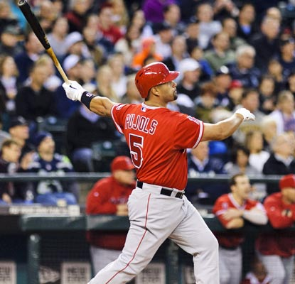 Albert Pujols belts No. 494 and passes Lou Gehrig and Fred McGriff for 26th place on the all-time home run list.  (USATSI)