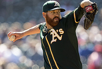 Dan Straily provides another strong pitching outing for the A's despite not having his 'A stuff.' (USATSI)