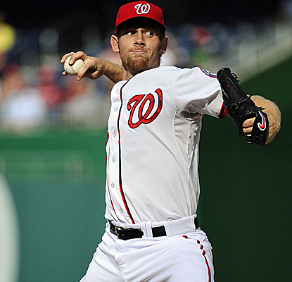 Stephen Strasburg strikes out 12 in 6 2/3 innnigs to give the Nats' bullpen a much-needed rest.  (USATSI)