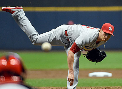 Cardinals pitcher Shelby Miller strikes out seven and allows just three hits as St. Louis beats Milwaukee 6-1. (USATSI)