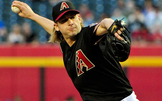 Bronson Arroyo gets knocked around for nine runs in 3 1/3 innings Tuesday. (USATSI)
