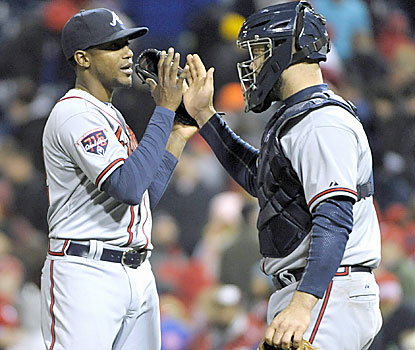 Personal bests from Julio Teheran (first-ever CG) and Evan Gattis (career-high four hits, HR) lead the Braves to victory. (USATSI)
