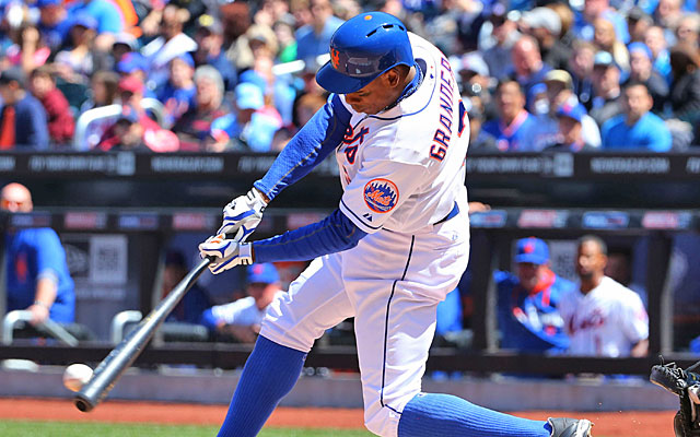 Contact has been hard to come by in the early stages of Curtis Granderson's Mets career. (USATSI)