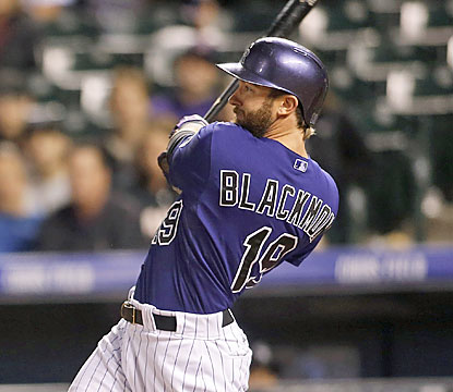 Charlie Blackmon continues to surge on offense. The Rockies' right fielder goes yard twice in the blowout. (USATSI)