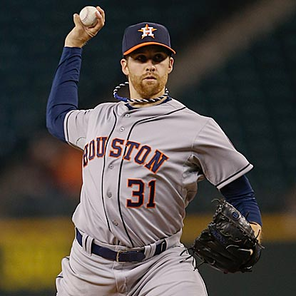 Collin McHugh, who struck out nine in his MLB debut with the Mets in 2012, fans 12 in his debut for Houston.  (Getty Images)