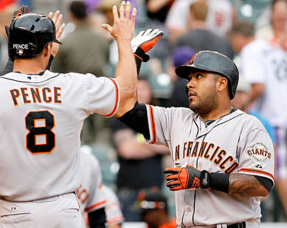 Hector Sanchez comes through with two home runs for the Giants, including a go-ahead grand slam in the 11th. (USATSI)