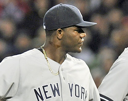 The night ends early for Michael Pineda, who gets ejected for having a foreign substance on the right side of his neck. (USATSI)