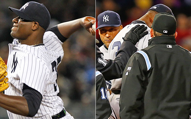 Pineda's pine tar went undetected by umps before; he wasn't so lucky Wednesday. (USATSI/Getty Images)