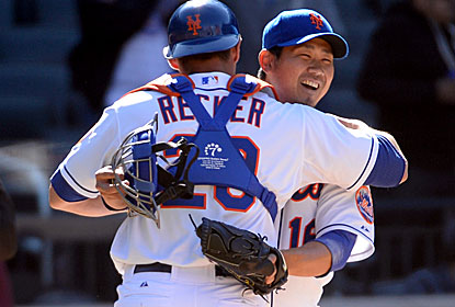Daisuke Matsuzaka pitches a perfect ninth for his first save since 2000, when he was in Japan. (USATSI)