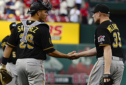 Mark Melancon and fellow relievers pitch seven strong innings after Francisco Liriano exits with flu-like symptoms.  (USATSI)
