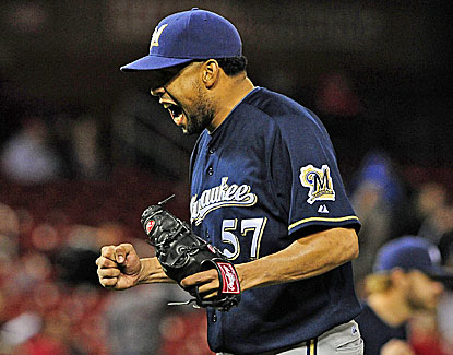 Francisco Rodriguez picks up his 13th save in as many chances as the Brewers beat the Cardinals in 11. (USATSI)
