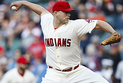 Justin Masterson pitches 7 1/3 scoreless innings with six Ks for his first victory since Aug. 21. (USATSI)