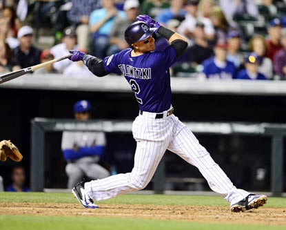 Troy Tulowitzki, the NL player of the month for April, makes an early case for taking home the May award.  (USATSI)