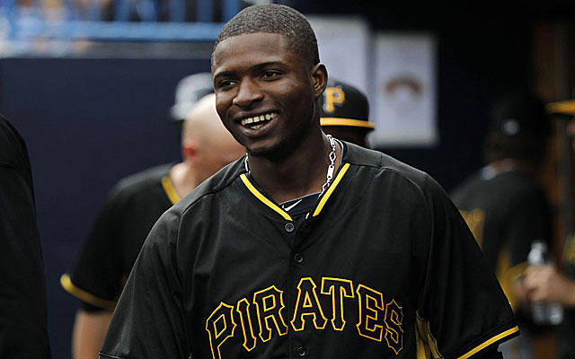 Gregory Polanco is tearing up Triple-A at the moment in the Pirates organization.  (USATSI)
